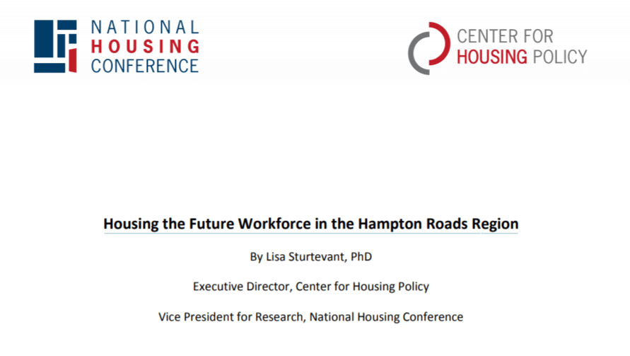 Housing the Future Workforce in the Hampton Roads Region